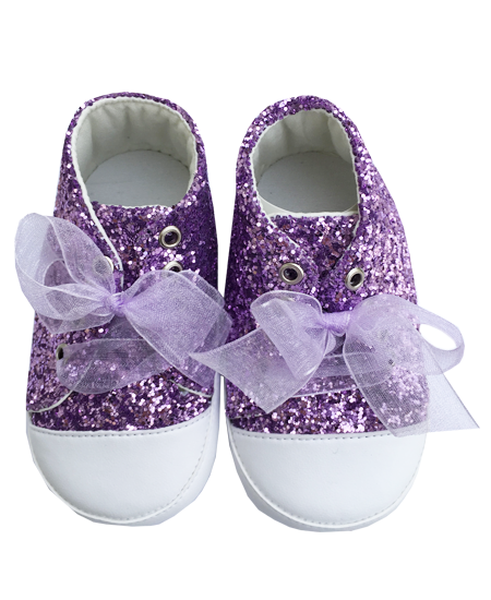 Babaszoba : Prémium babacipő lila strasszos