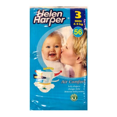 Helen Harper nadrágpelenka midi, 3-as, 4-9 kg, Air Comfort, 56 db