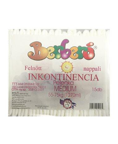 Berberó Medium inkontinencia pelenka, 55-75 kg