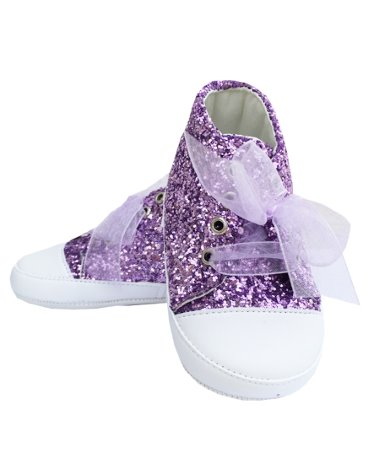 Prémium babacipő lila strasszos