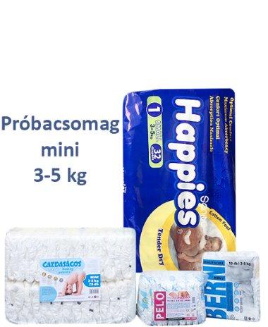 Próbacsomag mini 3- 5 kg (ismerd meg pelenkáinkat csomag)