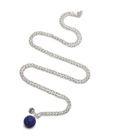 Proud Mama kismama nyaklánc, strasszos gömb kék