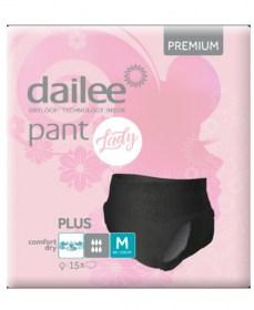 Dailee Pant Premium Black Plus M-es, nadrágpelenka hölgyeknek