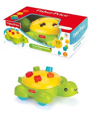Fisher Price formakereső teknős