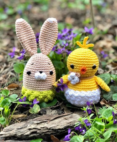 Húsvéti nyuszi és csibe
