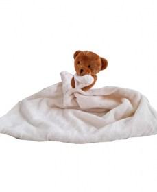 Plüss alvókendő macis