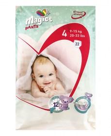 Magics bugyi pelenka 4-es méret, maxi 9-15 kg, 22 db/csomag