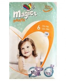 Magics bugyi pelenka 6-os méret, Xl junior 15 + kg, 18 db/csomag