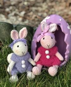 Húsvéti nyuszi - lila pulcsiban