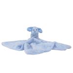 Plüss alvókendő állatfigurával kék