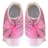 Prémium babacipő rózsaszín strasszos
