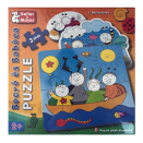 Bogyó és babóca kirakó, 3 puzzle játék kicsiknek  2+